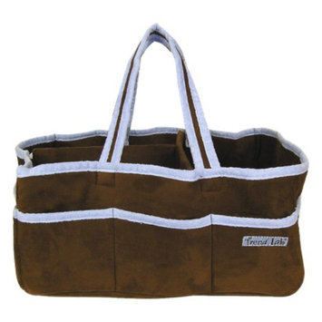 Trend Lab Brown with Blue Trim Ultra Suede Storage Caddy