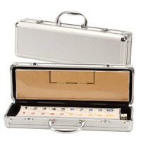 CHH Deluxe Rummy with Wooden Racks in Aluminum Case, 1 ea