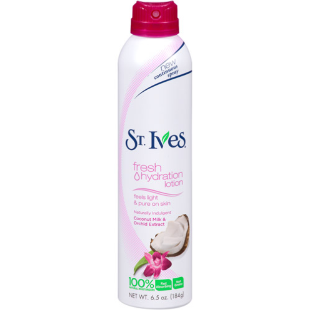 St. Ives Lotion Spray, Indulgent Coconut Milk & Orchid Extract, 6.5 oz
