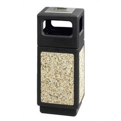 Safco Canmeleon Series Outdoor Aggregate Panel Side Opening Receptacle Color: Black