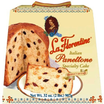 La Florentine Panettone, Italian Specialty Cake, 32-Ounce Boxes (Pack of 2)