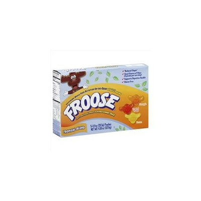 Froose Tropical Blend Gummy Snacks 5-Count Pouches -Pack of 6