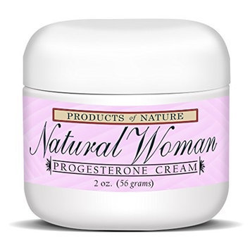 Natural Woman Progesterone Cream By Products of Nature. Technologically Advanced Natural Alternative to Hormone Replacement Therapy, Treats Menopause Symptoms, Reduces Hot Flashes, & Night Sweats. Great for Pregnant Women and Reducing Stretch Marks!