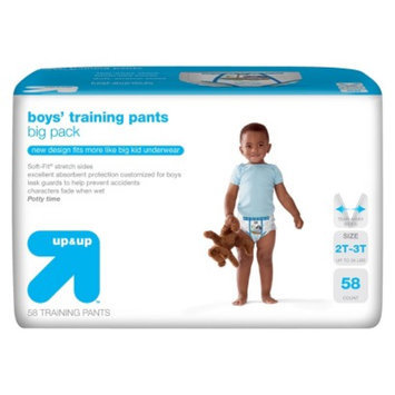 up & up Boys' Training Pants Big Pack Size 2T-3T 58 ct