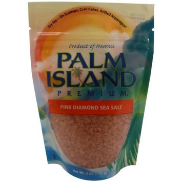 Palm Island Premium Pink Diamond Sea Salt, 4-Ounce (Pack of 6)