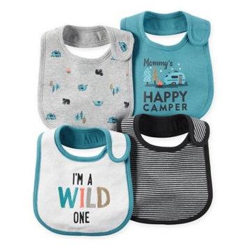 Baby Boy Carter's 4-pk. Woodland & Striped Bibs, Turquoise/Blue (Turq/Aqua)