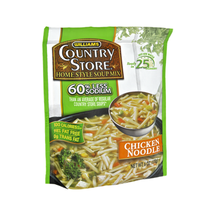 Williams Country Store Chicken Noodle 60% Less Sodium Home Style Soup Mix