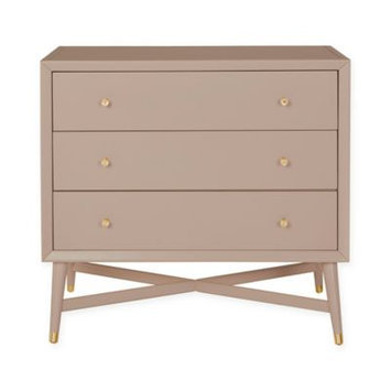 Westwood Design Mid Century 3 Drawer Dresser - French Grey