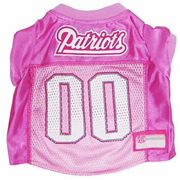 Doggie Nation.com New England Patriots Pink Dog Jersey Large