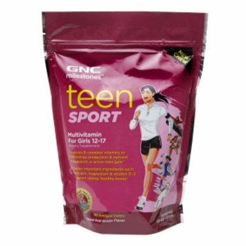 GNC Milestones Teen Sport Multivitamin for Girls 12-17, Natural, Acai-Grape, 60 ea