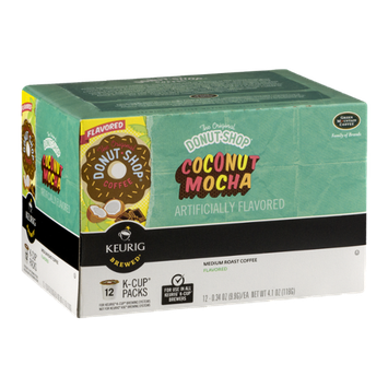 The Original Donut Shop Coffee Coconut Mocha Medium Roast K-Cup Packs - 12 CT