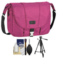 Tamrac 5426 Aria 6 Messenger Photo/iPad Digital SLR Camera Case / Bag (Berry) with Tripod + Accessory Kit