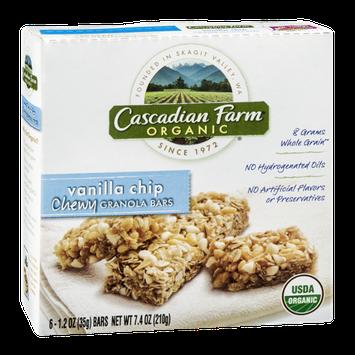Cascadian Farm Organic Vanilla Chip Chewy Granola Bars - 6 CT