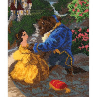 M C G Textiles Beauty and The Beast Falling In Love Latch Hook Kit