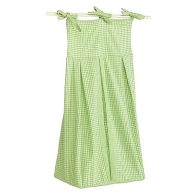 Tadpoles Basics Green Gingham Diaper Stacker