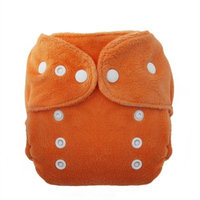 Thirsties Duo Fab Fitted Snap Cloth Diapers, Mango, Size Two (18-40 lbs)