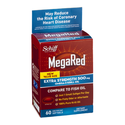 Schiff MegaRed Omega-3 Krill Oil Extra Strength 500mg Softgels - 60 CT
