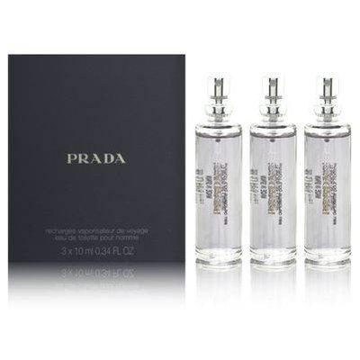 Prada by Prada SET-EDT REFILL SPRAY .34 OZ (QUANTITY OF THREE)