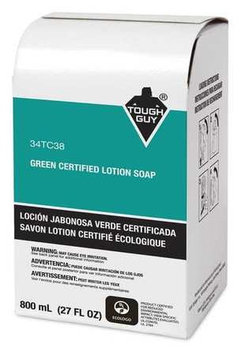 Tough Guy Lotion Hand Cleaner, 800mL Refill Box, 12 PK [PK/12] Model: 34TC38