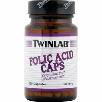 Twinlab Folic Acid Caps 800 mcg 100 Capsules