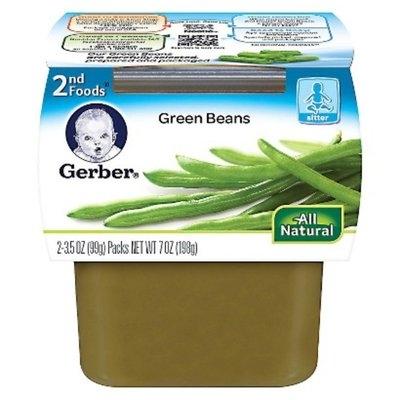 Gerber 2nd Foods Green Beans - 7.0 oz. (8 Pack)