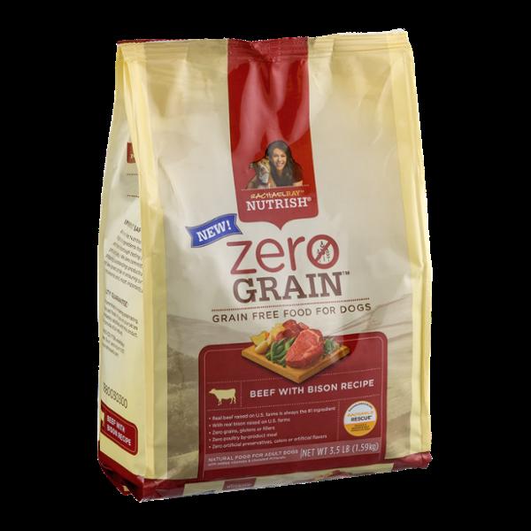 Rachel Ray Nutrish Zero Grain Adult Dog Food Beef With Bison Recipe