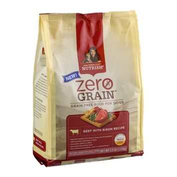 Rachel Ray Nutrish Zero Grain Adult Dog Food Beef With Bison Recipe