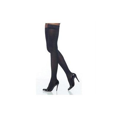 Sigvaris Soft Opaque 20-30 mmHg Closed Toe Thigh High Sock Size: Medium Short (MS), Color: Black 99