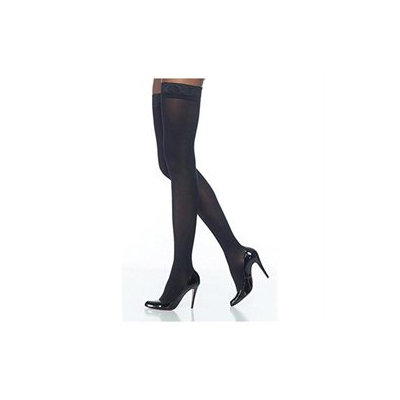 Sigvaris Soft Opaque 20-30 mmHg Closed Toe Thigh High Sock Size: Large Short (LS), Color: Black 99