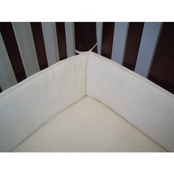 American Baby Company Organic Cotton Velour Portable Crib Bumper, Natural