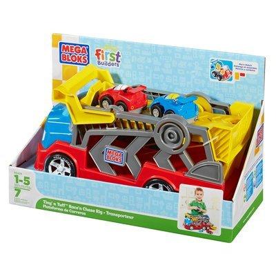 Mega Bloks First Builders Tiny 'n' Tuff Race n Chase Rig.