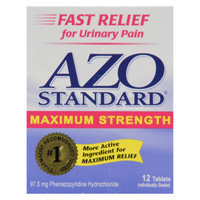 Azo Standard Urinary Pain Relief Tablets - 12 ct