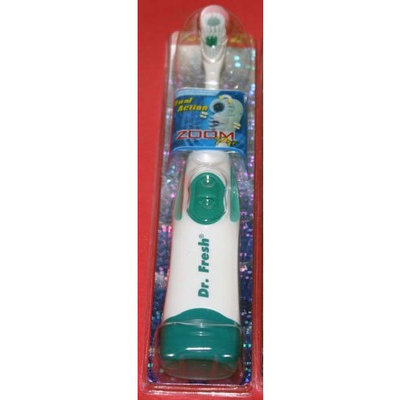 Dr. Fresh Zoom Pro Dual Action Battery Power Toothbrush, Green