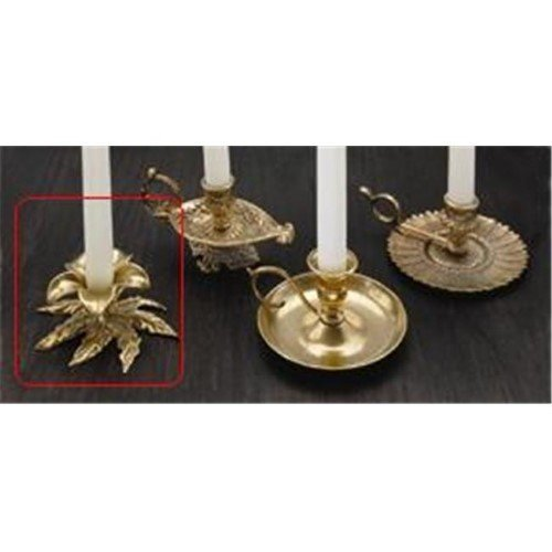 Biedermann & Sons H151 Antiqued Brass Flower Taper Holder Box of 4