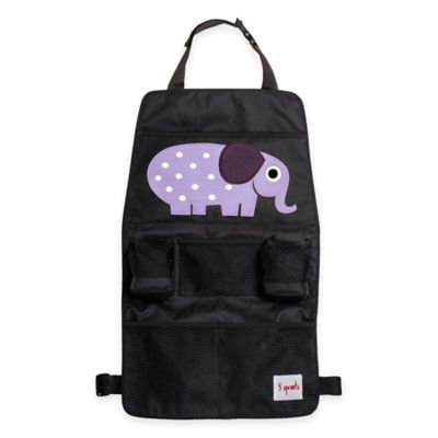 3 Sprouts Car Back Seat Organizer - Elephant, Multi-Colored