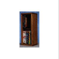 Wood Shed 2 Row Dowel DVD Storage (Honey Oak)
