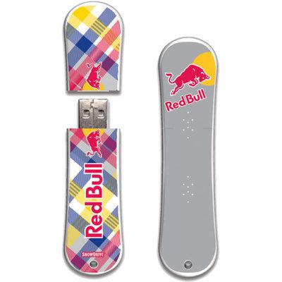 Action Sports Drive Red Bull SnowDrive 8GB USB Flash Drive, Yellow Plaid