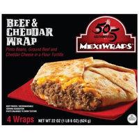 505 Southwestern MexiWraps Beef & Cheddar Wrap, 4 count, 22 oz