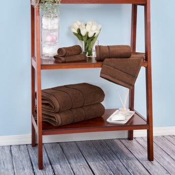 Lavish Home Zero Twist 100% Cotton 6 Piece Towel Set Color: Chocolate
