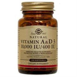 Solgar Vitamin A and D3 - 100 Softgels