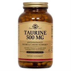 Solgar Taurine - 500 mg - 50 Vegetable Capsules