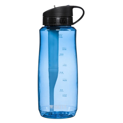 Brita Hard Sided Water Filter Bottle 34 oz, Blue, 1 ea