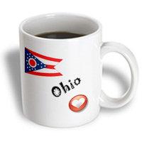 Recaro North 3dRose - SmudgeArt State Flags for the USA - I Love Ohio - 11 oz mug