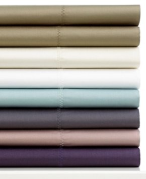 Closeout! Calvin Klein Florence Stitch 500 Thread Count Pima Cotton King Flat Sheet Bedding