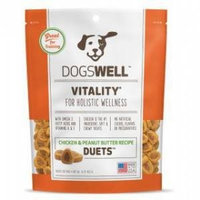 Dogswell 41521 16 oz. Vitality Chicken Peanut Butter Duets Dog Treat