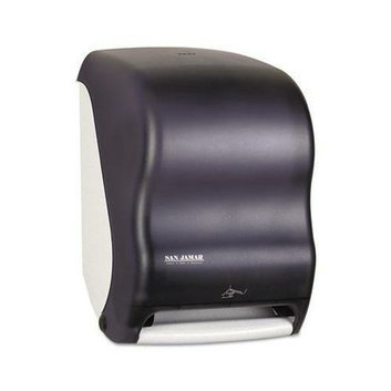 San Jamar T1400TBK Black Smart System with iQ Sensor Electronic Paper Towel Dispenser