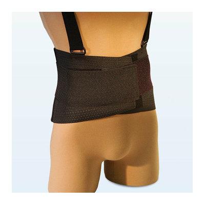 NYOrtho Ventilated Deluxe Elastic Back Belt in Reflective Black / Orange