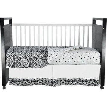 Sleeping Partners Seed Sprout - Damask Crib Bedding 3-Piece Set