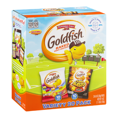 Pepperidge Farm Goldfish Baked Snack Crackers Variety Pack - 20 CT