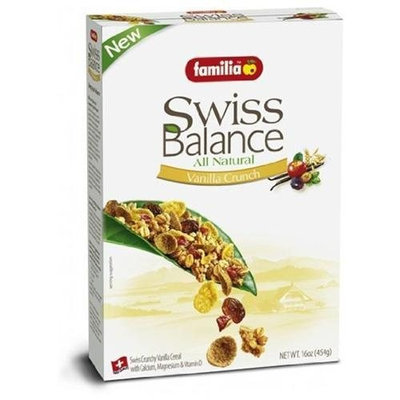 Familia Swiss Balance Vanilla Crunch Cereal, All Natural, 16-Ounce Boxes (Pack of 6)